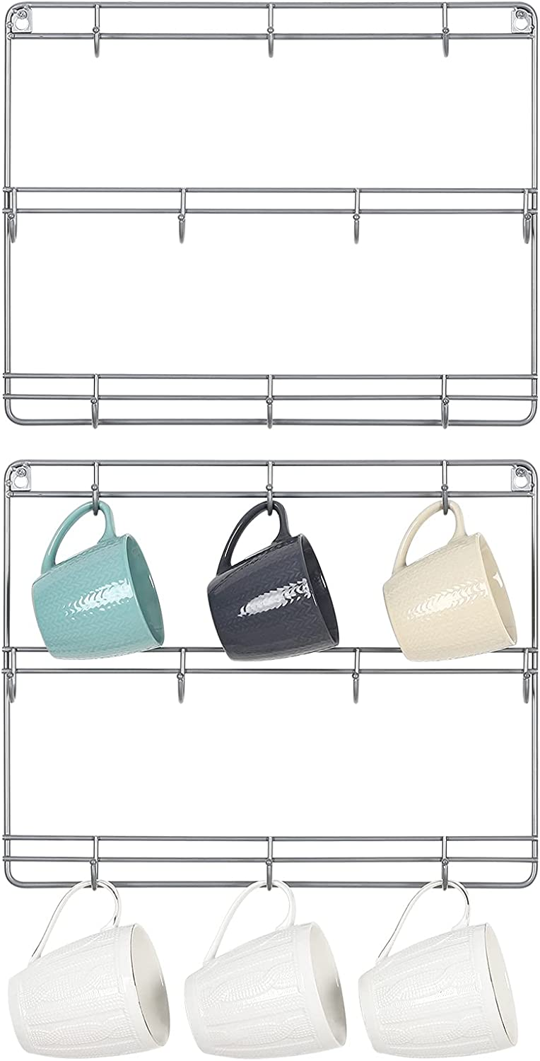 HAITRAL Mug Rack Wall Mounted Set Super sale of 3- High material with Cup Coffee Holder 2
