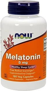 NOW Supplements, Melatonin 5 mg, 180 Veg Capsules