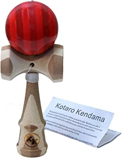 Kotaro Pro Bamboo Kendama Toy with Extra String (red)