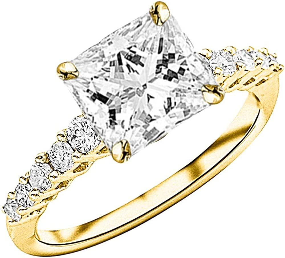 1.5 Ctw 14K White Gold Selling and selling Graduating Stone 2021 spring and summer new Single Cert Side Row GIA