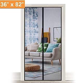 LELEKEY Magnetic Screen Door,Durable Heavy Duty Magic Mesh Curtain and Full Frame Hook & Loop,Sliding Door Net with Magnet Fits Doors up to 36 x 82 inch