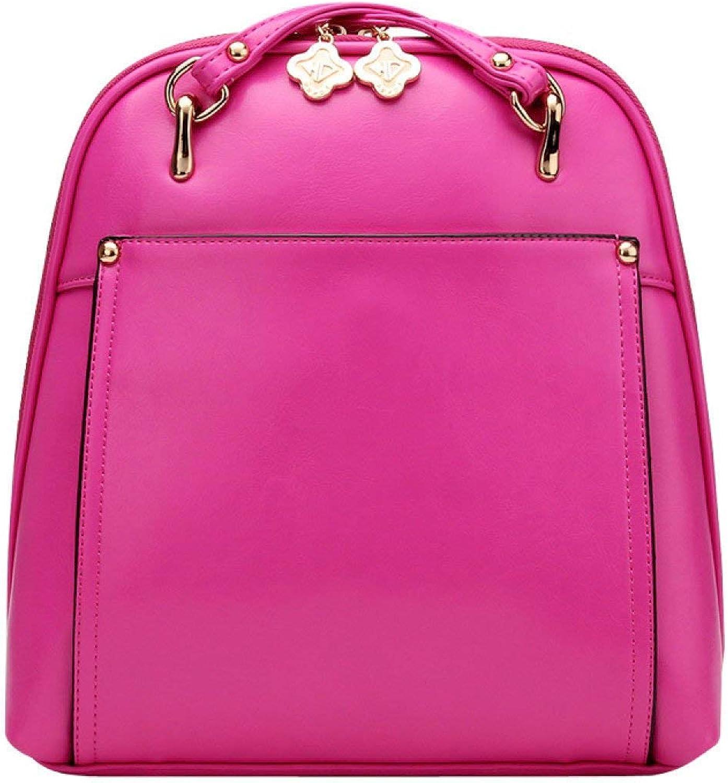 Hulday Handtasche Mode Damen Korean Studenten Rucksack Frauen Tasche Tasche Rucksack Einfacher Stil Taschen Damen Mnner Handgepaeck, (Farbe   A4, Größe   One Größe)