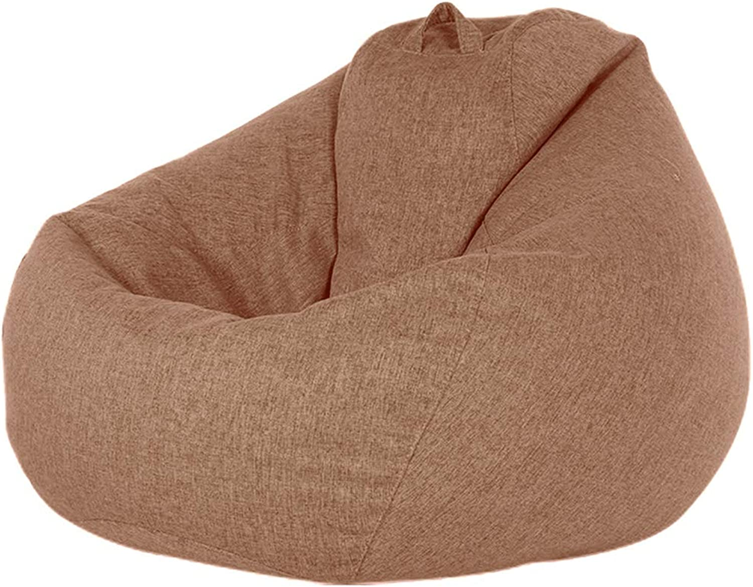 Enerhu Beanbag Adult Bean Bag Chair Indoor Outdoor Floor Cushion Realxing Sofa Comfortable Removable Cover for Home (One Size, Brown)