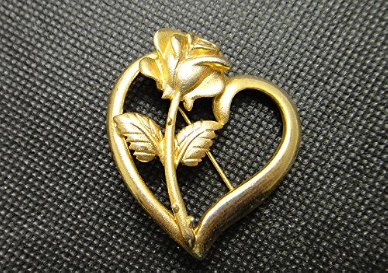 American Antique Shop golden Hearts pinks Brooch