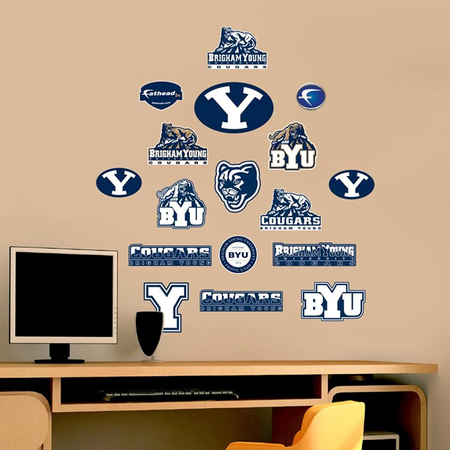 NCAA Brigham Young Cougars Junior Logo Assortment Wall Graphic