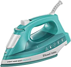 Russell Hobbs 2400W Light and Easy Brights Ceramic Soleplate Steam Iron, Aqua/Blue - 24840