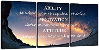 3 Panels Successful Inspirational Posters Quotes Wall Art Ability Modern Motivational..