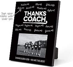 ChalkTalkSPORTS Personalized Field Hockey Photo Frame   Coach (Autograph) Picture Frame   Black