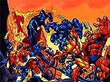 Comic X-Men 5D DIY diamante pintura bordado punto de cruz mosaico, pintura de diamantes para...