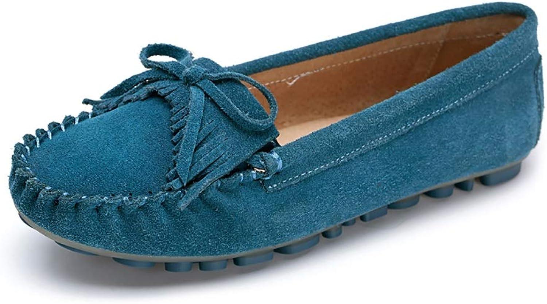 Damenschuhe YXX YXX YXX Frauen Oxfords Low Top-beiläufige Flache Schuhe, Frauen Frühlings-runde Zehe-Beleg auf Loafers Faule Schuhe für Office (Farbe   Blau, größe   40)  5cf7fd
