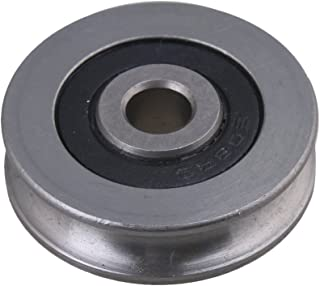 BQLZR 5x29.5x8mm 440C Stainless Steel Bearing Passive Round Guide Pulley Wheel Rail Roller Load 167KG for Steel Wire Rope Idler Wheel