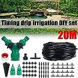 Sistema de riego de jardín Planta 20M bricolaje Auto Micro riego por goteo del sistema de riego del jardín kits de la manguera Negro Jardín de efecto invernadero floral ( Color : Black , Size : Sets )