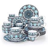 VEWEET, Tafelservice Serie 'Audrie' aus Porzellan, 32-teilig Kombiservice beinhaltet 10,75 '' Speiseteller, 7,5 '' Desserteller, 5,5 '' Schüssel und 380ml Kaffeebecher,Komplettservice für 8 Personen