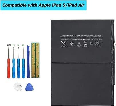 Upplus Ersatz Akku A1484 Kompatibel F r Netbook Pad Tablet iPad 5  Air  Mini Air  A1474  A1475  MD785LL A  MD786LL A wie 6712-6700  A1484 with Toolkit