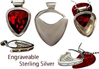 silver guitar pick holder