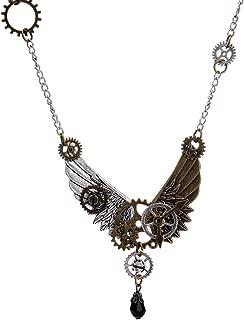 Collar de Cadena de Plata Steampunk