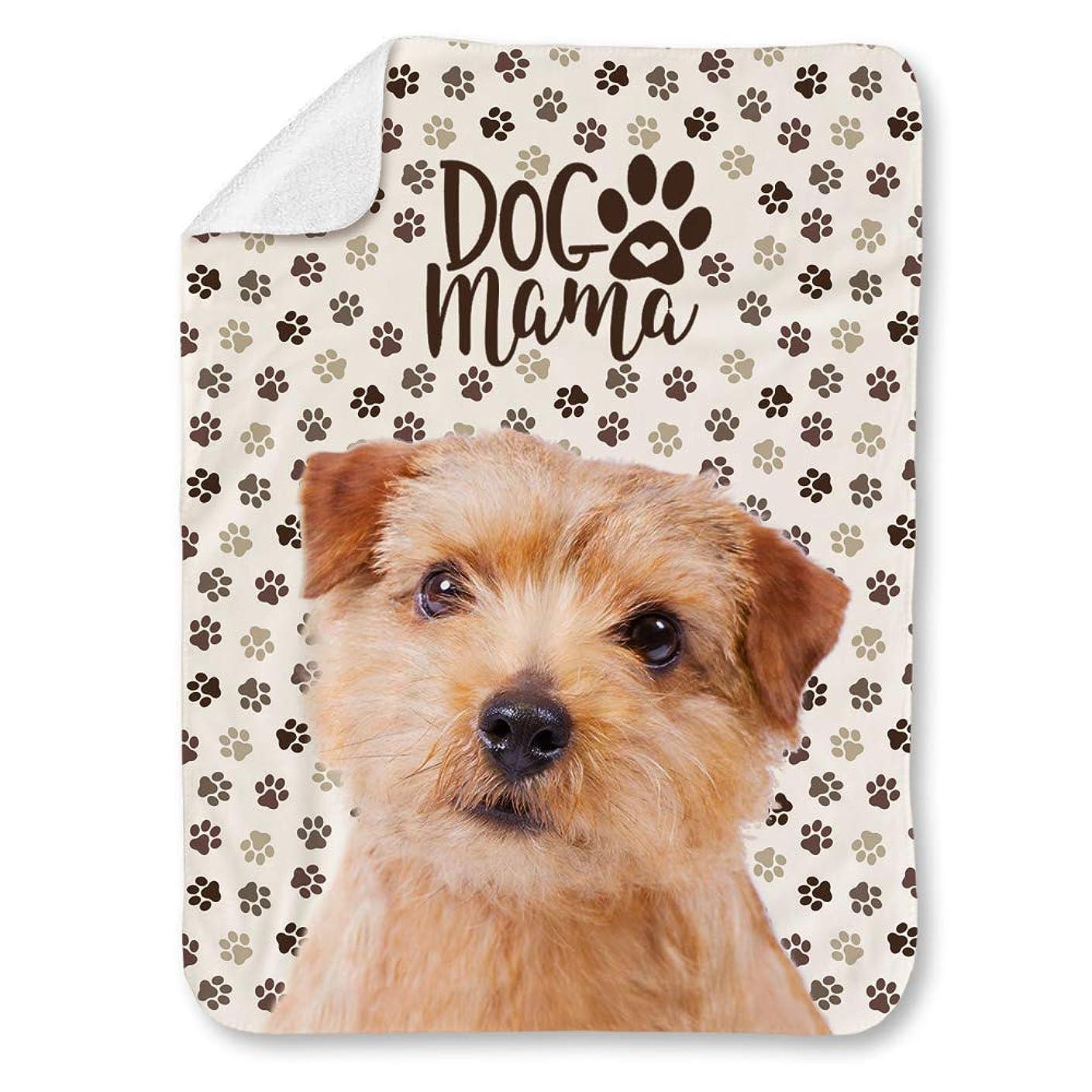 ミット明るくするアトミックNorfolk Terrier Dog ノーフォーク テリア 犬柄 印刷 可愛い犬の足跡 毛布 ブランケット ひざ掛け 掛け毛布 敷きパッド 掛け布団 80cmX120cm 保温力 暖かい 四季適用 静電防止 [並行輸入品]