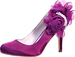 Vimedea Womens Heeled Peep Toe Slip On Wedding Dress Pumps Bride Party Prom 5623-11