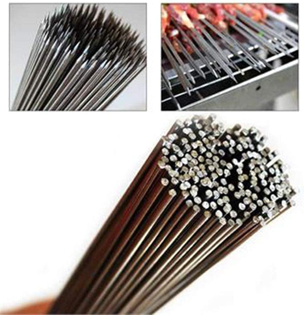 XYSQWZ 50Pcs Stainless Steel Sale Special Price Long Beach Mall Barbecue Needle BBQ Kebab K Skewers