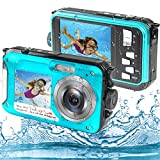 Underwater Camera, Waterproof Camera Full HD 2.7K 48MP Waterproof Camera Digital with Dual Screen, 16X Digital Zoom and Self-Timer (WP01)