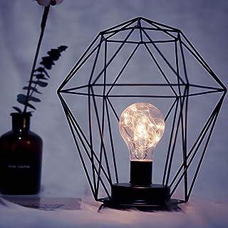 Lampe de table Lampe créative, brillante, minimaliste, à la main, lampe de bureau à LED de fer, lumière de nuit à LED avec...