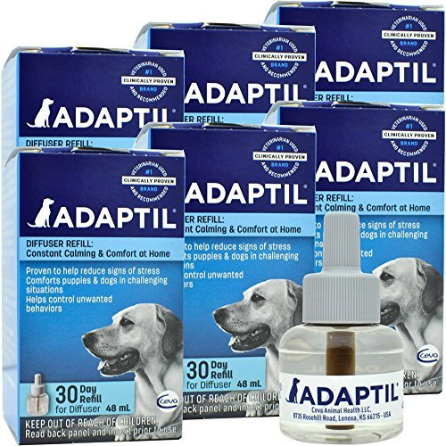 6 Pack ADAPTIL Calm Home Diffuser Refill for Dogs (288mL)
