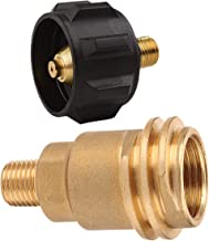 QCC1 Acme Nut Propane Gas Fitting Adapter, 1/4 Inch Male Pipe Thread, QCC1 Propane Adapter Gas Regulator Valve Fitting with Acme Nut, 100% Solid Brass