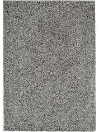 Benuta Shaggy Hochflor Teppich Swirls, Kunstfaser, Dunkelgrau, 133 x 190.0 x 2 cm