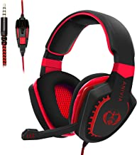 Funnilife Stereo Gaming Headset Xbox One Headset for PS5, PS4,PC Computer Headphones with Microphone Works with Mac, Xbox ...