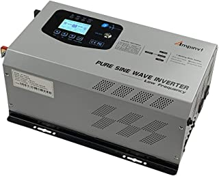 3000W Peak 9000W Pure Sine Wave Power Inverter 3000 watts Continuous DC 12V AC to 110V RV Converter with Battery AC Charger LCD Display,Low Frequency Solar Inverter for RV