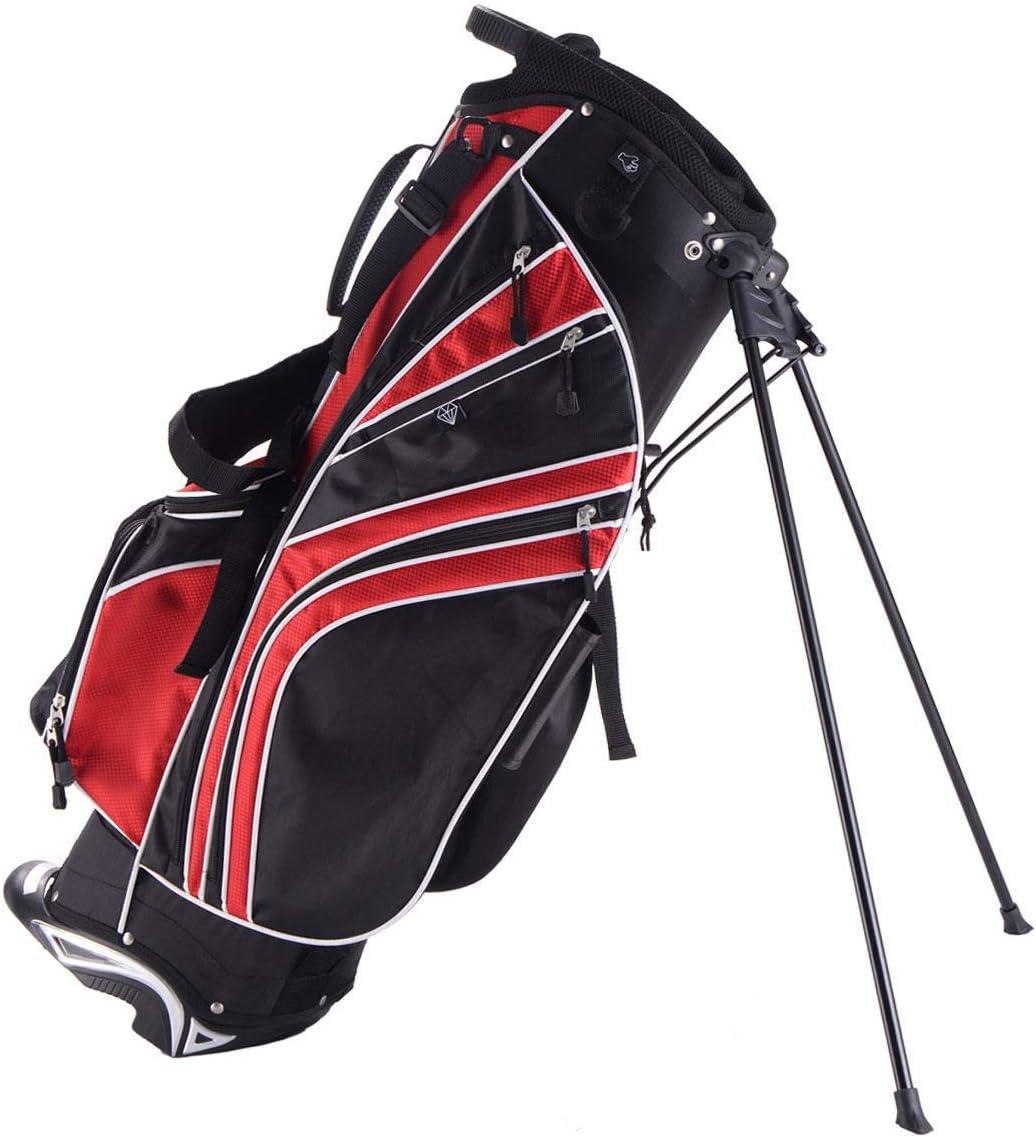 Custpromo Golf Stand famous Bag w Sacramento Mall 6 Pockets Lightwe Carry Way Divider