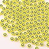 ZesNice Cuentas de Sonrisa, Abalorios para Hacer Pulseras, Perlas para Collares, Kit de Fabricación de Joyas, 600 Caritas Sonrientes para Pulseras