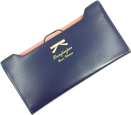 b2c50440db4be XXMAO Korean Version Women Sweet and Cute bow Multi- Card Handbag Long  Wallet Blue