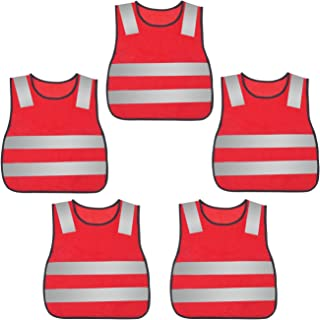 AIEOE Kid's Reflective Safety Vest High Visibility for Costume Cycling 5 Pack/ 10 Pack/ 15 Pack / 20 Pack