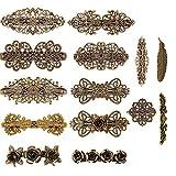 Kalolary 14 Stücke Französisch Haarspangen Retro Vintage Bronze Rosen Blume