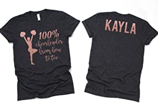 Cheerleading Gifts, Cheerleader From Bow to Toe, Personalized Cheer Shirt