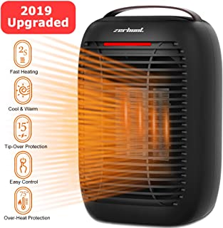 Electric Small Space Heater, [2019 Upgraded] Space Heater with Overheat Protection & Tip-Over Protection, 750W / 950W Portable Electric Space Heater for Office and Home