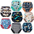 MooMoo Baby 8 Packs Potty Training Pants Cotton Absorbent Training Underwear for Toddler Baby 2-6T