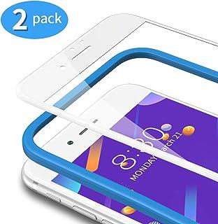 TAMOWA [2-pack skärmskydd för iPhone 7/iPhone 8 (4,7 tum), 3D helskärm premium härdat glasskydd 9H okrossbar film med inst...