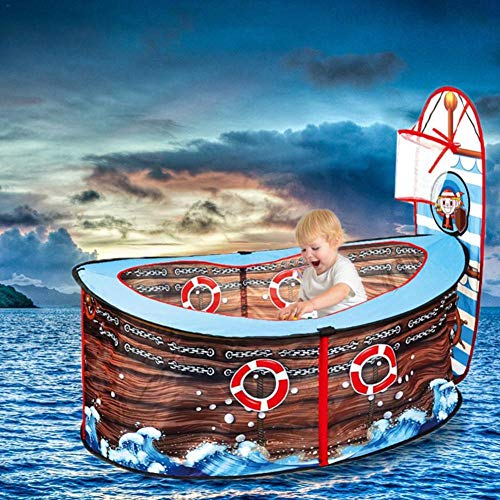 Gtfzjb Tienda para niños Juego Poliéster Barco Pirata Marine Ball Pool Casa de Juguete Interior Juego Valla Tienda para bebés Piscina de bolinha