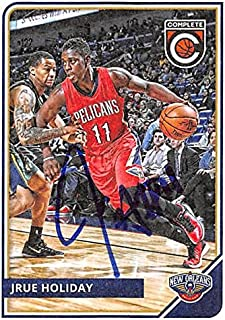 Jrue Holiday autographed Basketball Card (New Orleans Hornets) 2015 Panini Complete #183 - Unsigned Basketball Cards