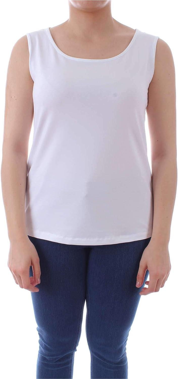 Marina Rinaldi Women's 294201904001 White Cotton Tank Top