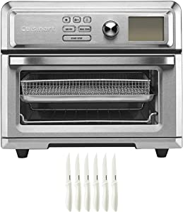Cuisinart TOA-65 Digital AirFryer Toaster Oven with Intuitive Programming Options Bundle with Cuisinart Advantage 6-Piece Ceramic Coated Serrated Steak Knife Set White