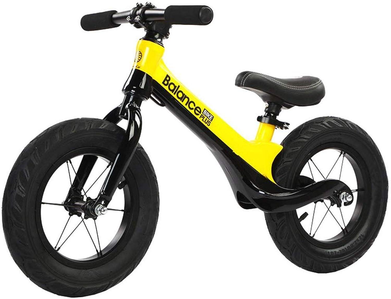 el mas reciente XIA Coche de de de Equilibrio para Niños 12 Pulgadas Inflable sin Pedal 2-6 años de Edad, Dos Ruedas Paso Bicicleta de aleación de magnesio (Color   amarillo)  en venta en línea