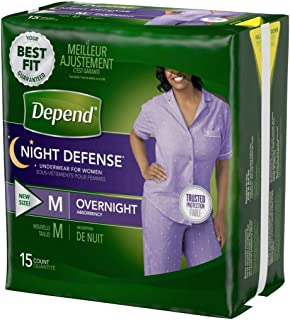 Medium Overnight Depends Women - Night Defense Incontinence Underwear, Purple