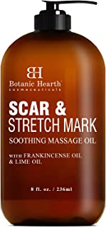 BOTANIC HEARTH Scar and Stretch Mark Soothing Massage Oil, with Frankincense Oil and Lime Oil, Reduces Appearance of Scars...
