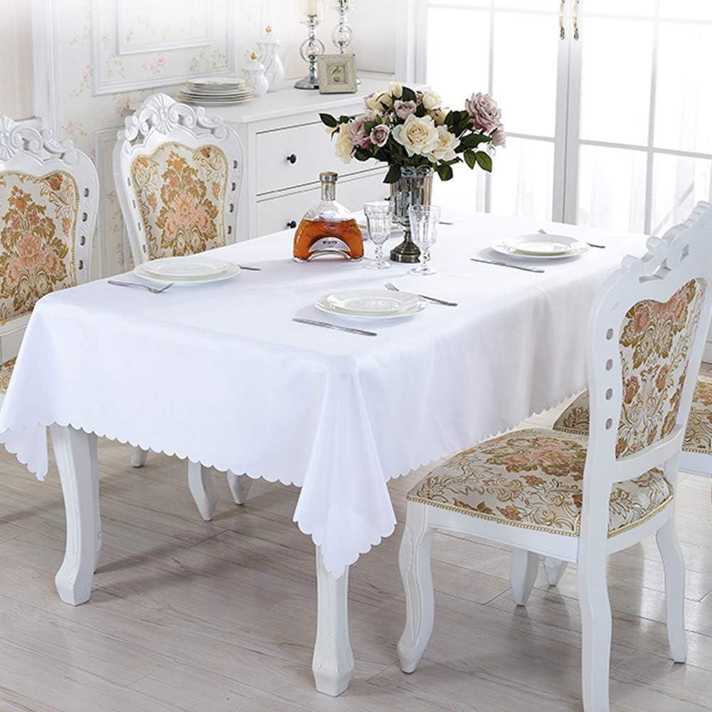 bianco ideale per tavoli da buffet cene matrimoni lavabile vacanze tovaglia rettangolare feste Tovaglia rettangolare 150 x 200 cm in poliestere