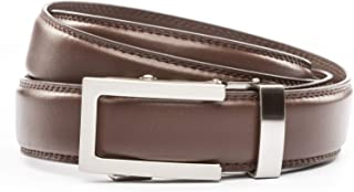 Anson Belt & Buckle - Men's Traditional Silver Buckle with Ratchet Belt