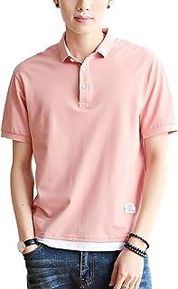 [ラルジュアルブル] ポロシャツ カラー カットソー 襟付き Tシャツ インナー アウター かっこいい シンプル カジュアル トップス
