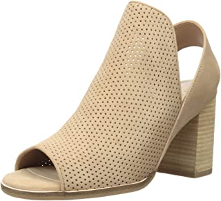 Cole Haan Women's Callista Open Toe Sling Bootie (75MM) Ankle Boot, Sesame Perforated Suede, 11 B US